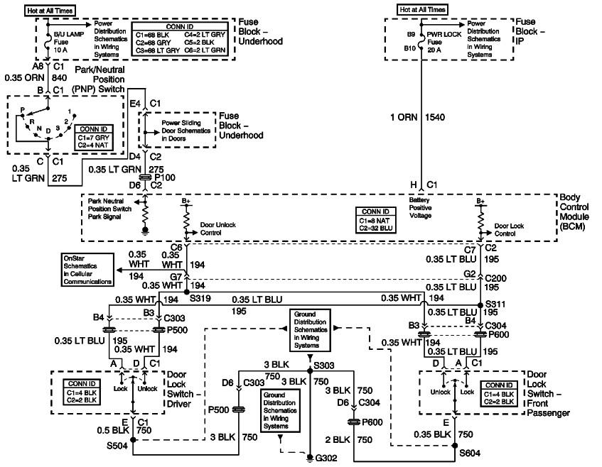 chevy venture power door lock diagram 37 wiring diagram Door Lock Actuator Wiring Diagram House Door