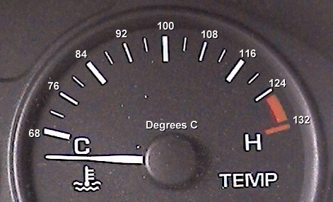 Engine Temperature Gauge Including Degrees C